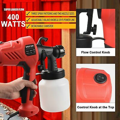 Paint Sprayer Spray Gun Airless HVLP Electric 400W Handheld Fence Tan System UK • 16.99£