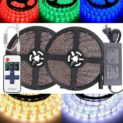 AU17.43 • Buy LED Strip Lights 5630 RGB Waterproof IP65 Flexible 5M 20M RF Controller Adapter