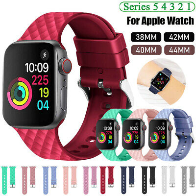 $ CDN6.46 • Buy Silicone Sports Watch Band Strap For Apple Watch SE 6 5 4 3 IWatch 40/44 38/42mm