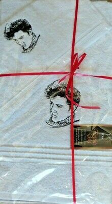 Elvis Presley White Towel Gift Set 100% Pure Turkish Cotton • 8£