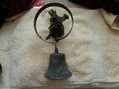 Antique Door Pull Bell Spring  Type With Fittings Servant Type • 35£