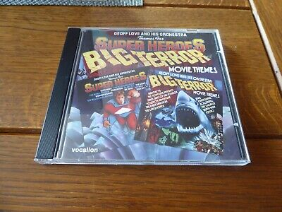 GEOFF LOVE Themes For Super Heroes / Big Terror Movie Themes CD 1975/79 Vocalion • 10£