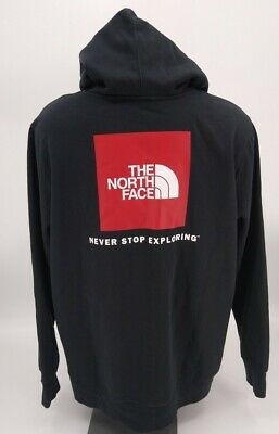 $42.99 • Buy NWT Men's The North Face Red Box Po Hoodie Black & Red Size XXL