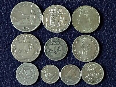1870-1964 Silver Foreign Coins Job Lot From Around The World Different Countries • 12£