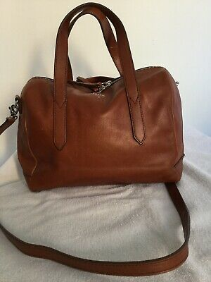 Ladies Tan Leather Fossil Tote,messenger Bag • 14.99£