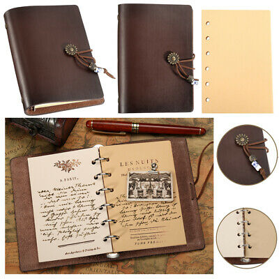 £13.29 • Buy Leather Notebook Journal Handmade Vintage Leather Travel Diary Notepad Book Pad