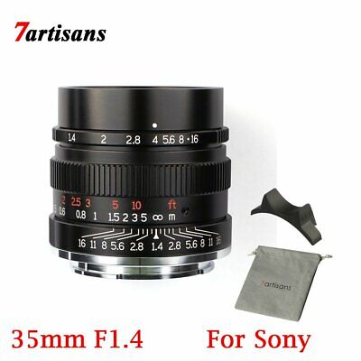 $ CDN266.82 • Buy 7artisans 35mm F1.4 Full Fame Lens For Sony E Mount Camera A7 A7II A7R A7RII A7S