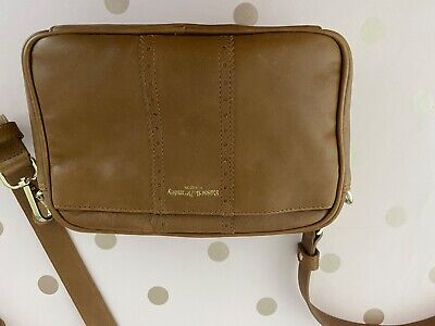 Russell And Bromley Tan Leather Across Body/belt Bag • 8£