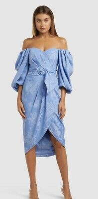 AU169 • Buy Womens Spring Forever New Puff Sleeve Dress Size 6