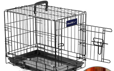 $23 • Buy Extra Large Dog Crate Kennel 18  Folding Pet Cage Metal US SHIP