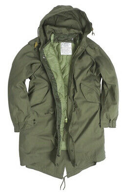 $131.14 • Buy Us M51 Fishtail Parka Mil-tec Od Shell Parka With Liner & Hood