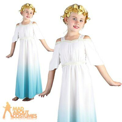 £7.49 • Buy Kids Roman Goddess Costume Cleopatra Egyptian Toga Book Day Fancy Dress Outfit