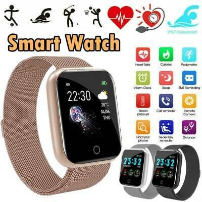 AU22.99 • Buy Waterproof Smart Watch Heart Rate Fitness Tracker Bracelet For Android IPhone
