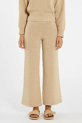 AU56 • Buy Zulu And Zephyr White Wash Knit Pant - Natural Size Small (Sold Out!)