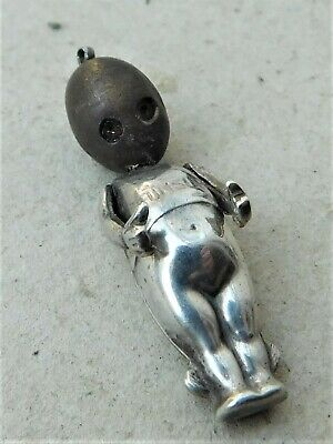 NO RESERVE WW1 Silver Fums Up Soldiers Lucky Charm Touch Wud Wood Vintage • 5.50£