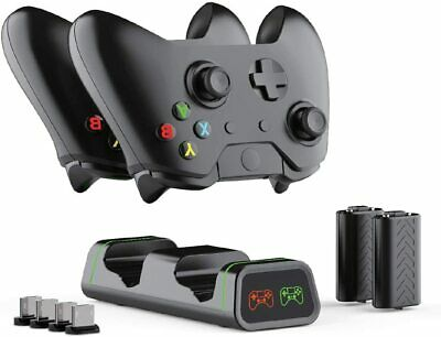AU49.95 • Buy Xbox One Controller Charger Station, 2-1200mAh Chargeable Battery4X USB Dongle