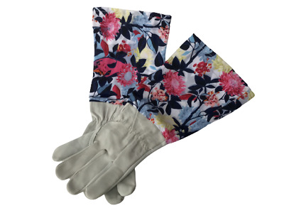 Pruning Gloves Gauntlet Thorn Long Sleeve Gardening Leather Pretty Ladies Gift • 8.90£