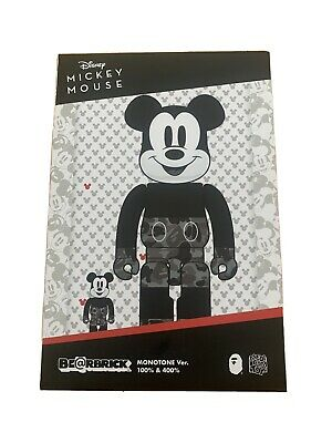 $250 • Buy A BATHING APE × BEARBRICK X MICKEY MOUSE BE@RBRICK 400% & 100% Green Medicom Toy