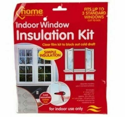 £2.95 • Buy Window Insulation Fit Double Glazing Shrink Film Draught Excluder Condensation