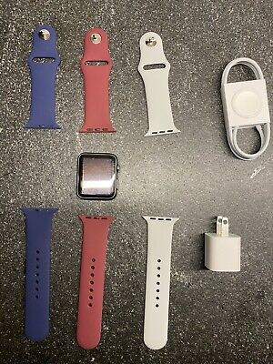 $ CDN73.73 • Buy Apple Watch Series 1 42mm Space Gray Aluminum Case - Red/White/Blue Sport Bands