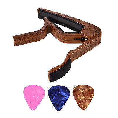 $ CDN9.08 • Buy Aluminum Alloy Wood Color Guitar Capo For 6-string Folk Guitar Electric W3K6