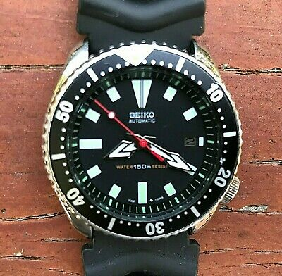 $ CDN247.42 • Buy 1993 Vintage SEIKO Diver 7002-7000 Automatic Black Dial Resin Band 42mm Watch