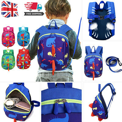 Cartoon Baby Toddler Kids Walking Safety Harness Strap Bag Backpack With Reins A • 8.07£