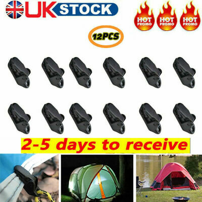 12pcs Awning Clamp Tarp Clips Snap Hangers Tent Camping Survival Tighten Tool UK • 2.59£