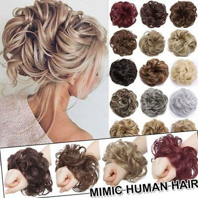 £7.52 • Buy Large Messy Bun Scrunchie Hair Piece False Updo Cover Hair Extension Curly Thick