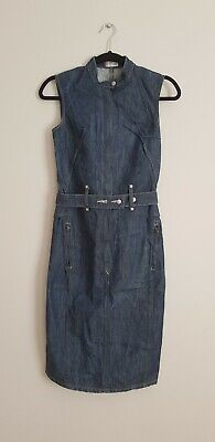 Levi's Engineered Twisted Seam Denim Dress RARE Vintage Size XS Extra-Small 6-8 • 30£