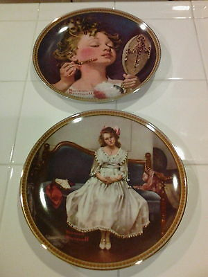 $ CDN6.67 • Buy 2 Norman Rockwell Knowles Limited Edition Numbered Plates