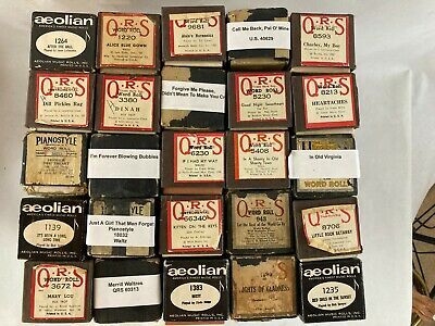 $ CDN9.40 • Buy Vintage Old Player Piano Rolls - QRS, Aeolian, U.S., PianoStyle