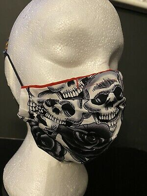 £4.50 • Buy Face Mask /Face Covering Skulls And Roses Emo Alternative Goth Reusable