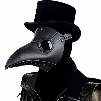 Plague Doctor Mask Halloween Props Costume Steampunk Gothic Cosplay Scary Mask • 12.99£