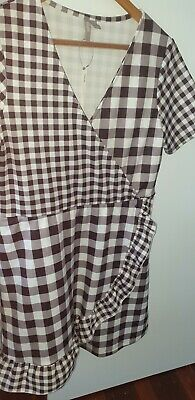 AU14.50 • Buy ASOS Stretch Gingham Dress Sz 14 Bnwt