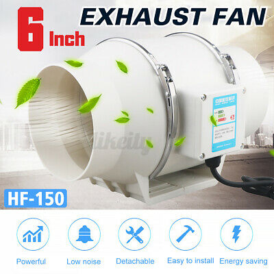 AU56.99 • Buy 4/6'' Inline Duct Fan Hydroponic Extractor Fan Vent Exhaust Air Blower Noise Low