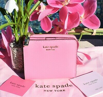 $ CDN65.44 • Buy 🌸 NWT Kate Spade Sylvia Small Bifold Wallet Leather Hibiscus Tea Pink New $98