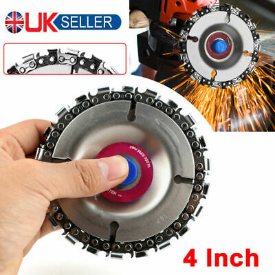 4  Angle Grinder Disc 22 Tooth Chain Saw Blade For Wood Carving Cutting Tool UK • 5.59£