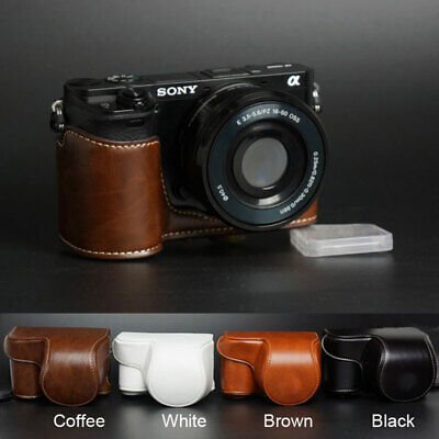 AU19.12 • Buy Leather Camera Protect Case Bag Strap For Sony A6000 A6100 A6300 A6400 16-50