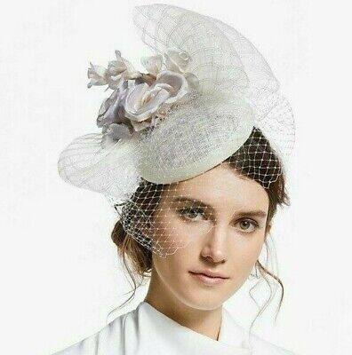 £27.99 • Buy John Lewis Lucy Flower Pillbox Fascinator, Ivory/Silver Wedding & Occasion Races