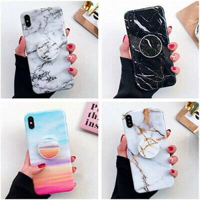 Polishing Marble Soft Phone Case &Holder For IPhone11/11ProMax/8Plus/7/6/SE 2020 • 5.99£