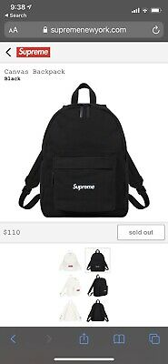 $ CDN205 • Buy Supreme Canvas Backpack Black FW20
