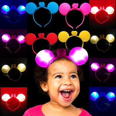 Xmas Led Headband Minnie Mouse Flashing Lights Colourful Children's Party  • 3.99£