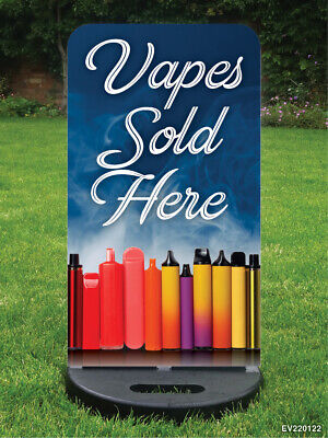 $ CDN136.70 • Buy Vape Sign Vape Shop Sign E-cigs Sign Pavement Sign Swing Sign A Board Customised