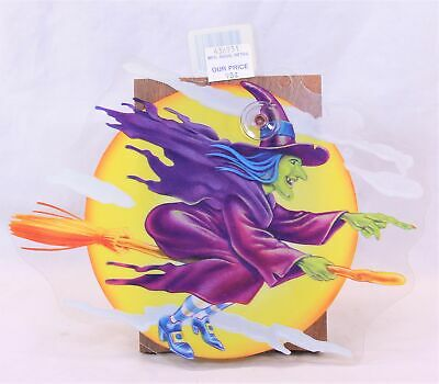 $ CDN8.92 • Buy Vintage Halloween  Witch/Moon  Suction Cup Window Decoration