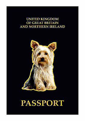 UK Passport Cover With Yorkshire Terrier Dog Image • 4.95£