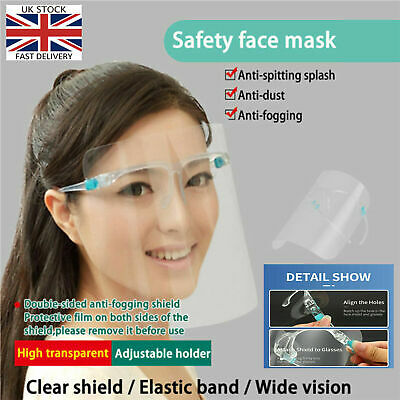 Full Face Shield Visor Protection Mask Sheild Safety Clear PPE UK FAST SHIPPING • 2.85£