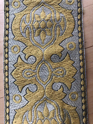 Vintage Decorative Mustard Flower Design Border Trimming  / Haberdashery - L37 • 7.99£