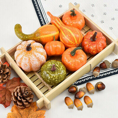 $ CDN10.87 • Buy 50x Halloween Simulation Realistic Artificial Pumpkin Decor Thanksgiving Fall