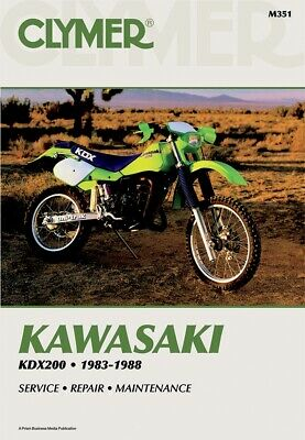 AU47.65 • Buy Clymer Repair Manual Kawasaki KDX200, 1983-1988